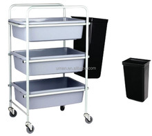 Restaurant Plastic Service Cart for foodware collection