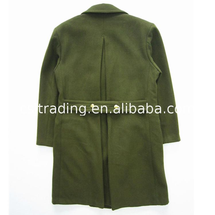 Well Designed military winter warm overcoat official mens