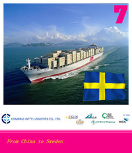 Free shipping sea freight container from China to SKELLEFTEA port of Sweden