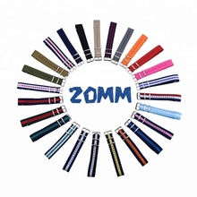 Small MOQ 20mm Different Colors Stocks Nylon Watch Nato Strap With Steel Buckles