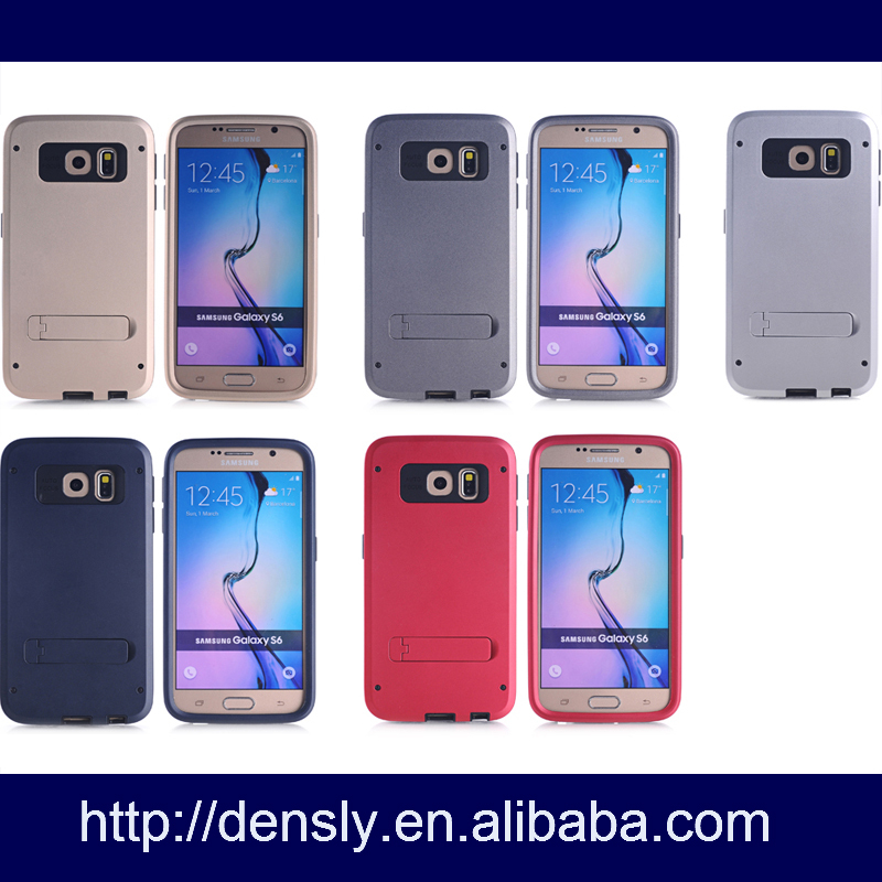 new coming PC moblie phone case 3 in 1 Cases for Samsung s6 ,cover case for samsung galaxy s6