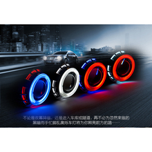 Auto Car Light Bi-xenon 3inch angel eyes colorful lamp bixenon projector lens headlightprojector lens fog lamp