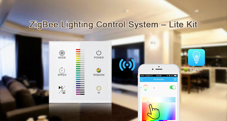 zigbee smart home led lighting wireless remote control system light switches view zigbee light. Black Bedroom Furniture Sets. Home Design Ideas