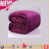 Reddish purple royal bed blanket multi-function cheap wholesale flannel blankets