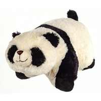 Alibaba soft animal plush cushion panda shaped animal pillow stuffed plush pillow pet