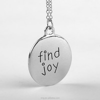 Find Joy Every Day Inspiration Necklace Find Joy in the Journey Mantra Charm Necklace Hand-Stamped Jewelry