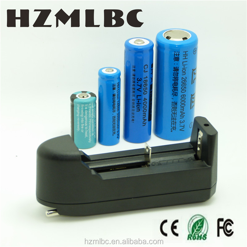 HZM US EU 3.7 V lithium battery charger 18650 li-ion battery charger rechargeable universal wall charger