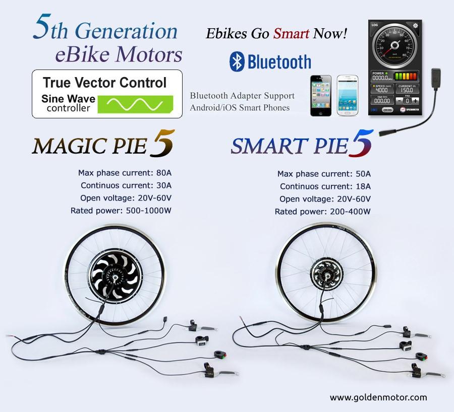 Electric Bike Motor Magic Pie 5 With Builtin Sine Wave Controller: Magek Motor Wiring Diagram At Shintaries.co