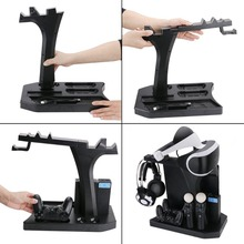 Vertical Display Charging Stand Controllers Charging Station with Cooling Fan for PS VR/ PS4 / PS4 Pro / PS4 Slim