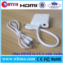 Good quality Mini HDMI vga rca with audio