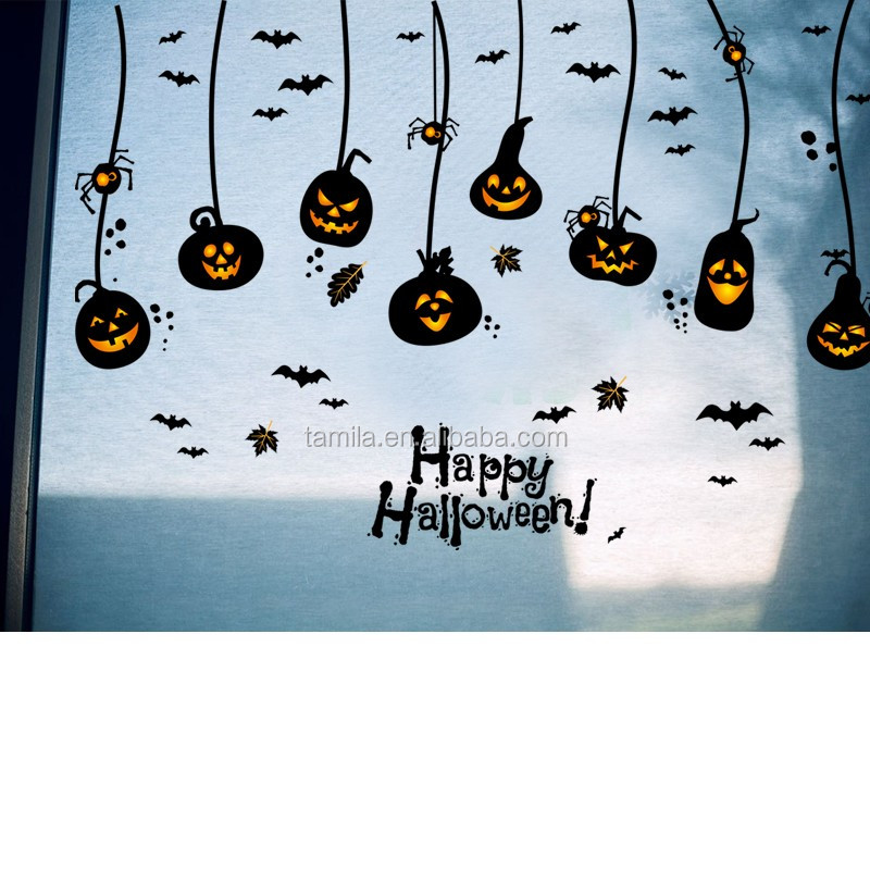 Halloween decorations props Wall stickers Halloween witch bats window glass gift wall stickers
