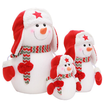 High Quality Stuffed Plush Christmas Toy Soft Snowman Toy for Christmas Decoration