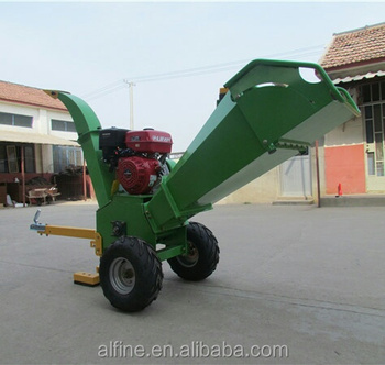 Factory price mini type diesel wood chipper shredder