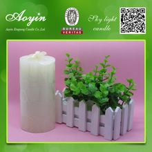 wholesale birthday party decorations 3x4 white wax pillar candles