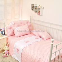 luxury cotton embroidery baby crib bedding set