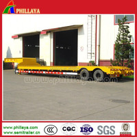 30 Ton Low Flatbed Trailer/ Twin Axle Truck Semi Trailer / Low Elevation Concave Beam Low Bed Trailers with Nice Price for Sale