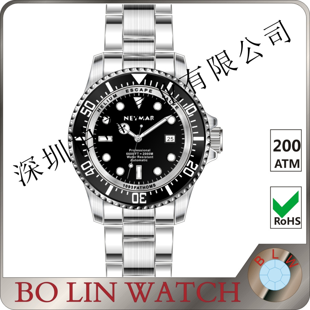 high quality watch 200atm, 2000meters watch brand, automatic watch 2000 meters