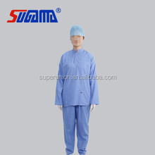 disposable medical nurse pajamas scrub suit patient gown