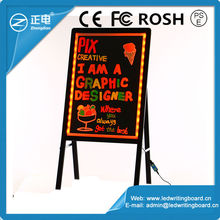 New advertising idea aluminum alloy frame stand independently restaurant menu board led signs ideas