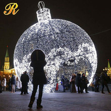 Big white LED Christmas light balls made in China