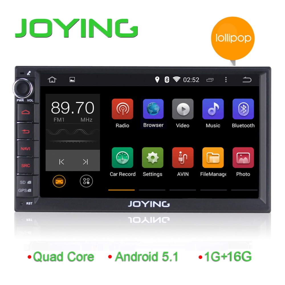 7 inch Android 5.1 double din HD touch screen car stereo with gps navigation/RDS/CAN-BUS