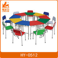pre school furniture wooden pre-school desk and chair