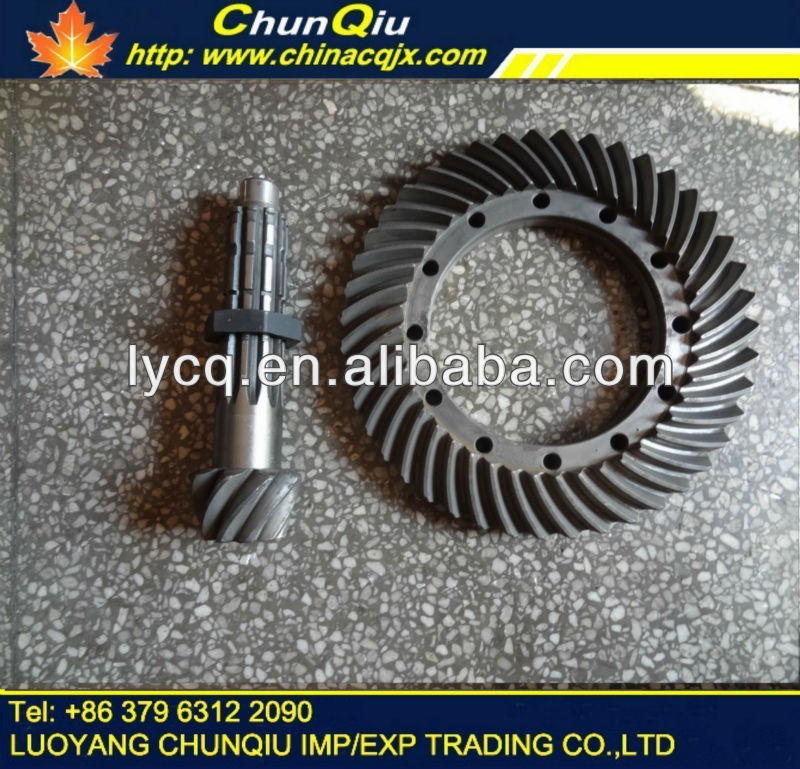 YTO X904/X804/X704 tractor axle part,YTO tractor axle bevel gear pair 9/39,9/43,5142023/16