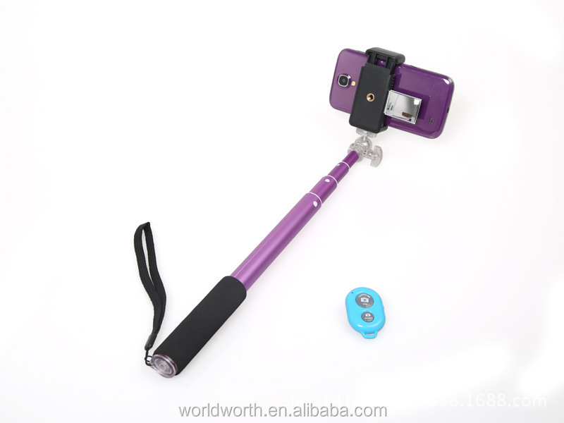 Wholesale camera wireless monopod RK906 with bluetooth Remote Shutter for ios and andriod