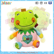 Australian Jollybaby Happy Stuffed Green Tumbler Baby Plush Frog Toys