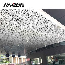 Aluminum Acoustic 2x2 Suspended drop ceiling tiles