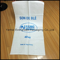 Cheap price virgin resin empty pp bags in stock, 25kg-60kg capacity pp woven bags