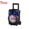 High power 15 inch trolley speaker karaoke with 1 Wireless Microphone