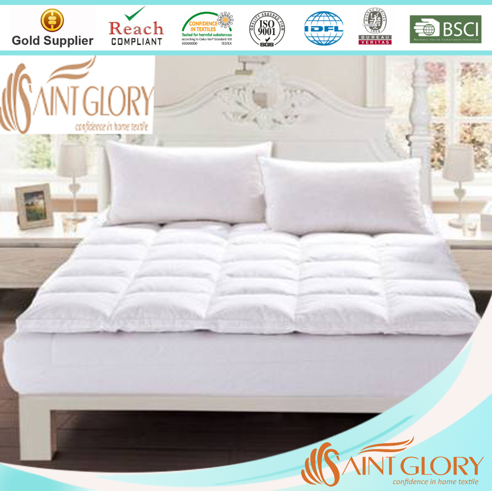Saint Glory famous producer light goose feather mattress topper Duck Down Feather Mattress Topper/Pad