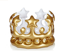 pvc inflatable crown birthday funny gift idea for kids