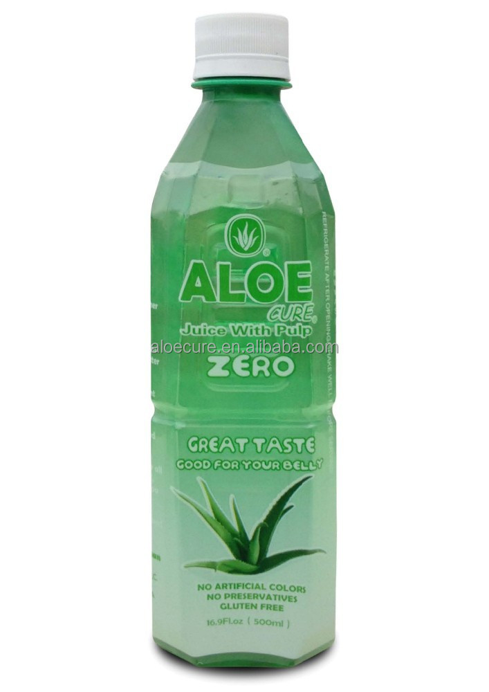 AloeCure Aloe Vera Beverage 500ml, Natural Sugar Free, fresh aloe vera juice, herbal drink with chunks