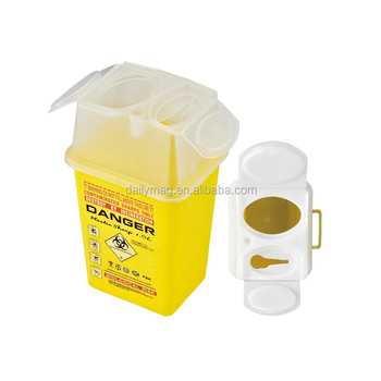 FDA Approval Clinic Mini 1L Medical Waste Disposal Sharps Container With Transparent Lid
