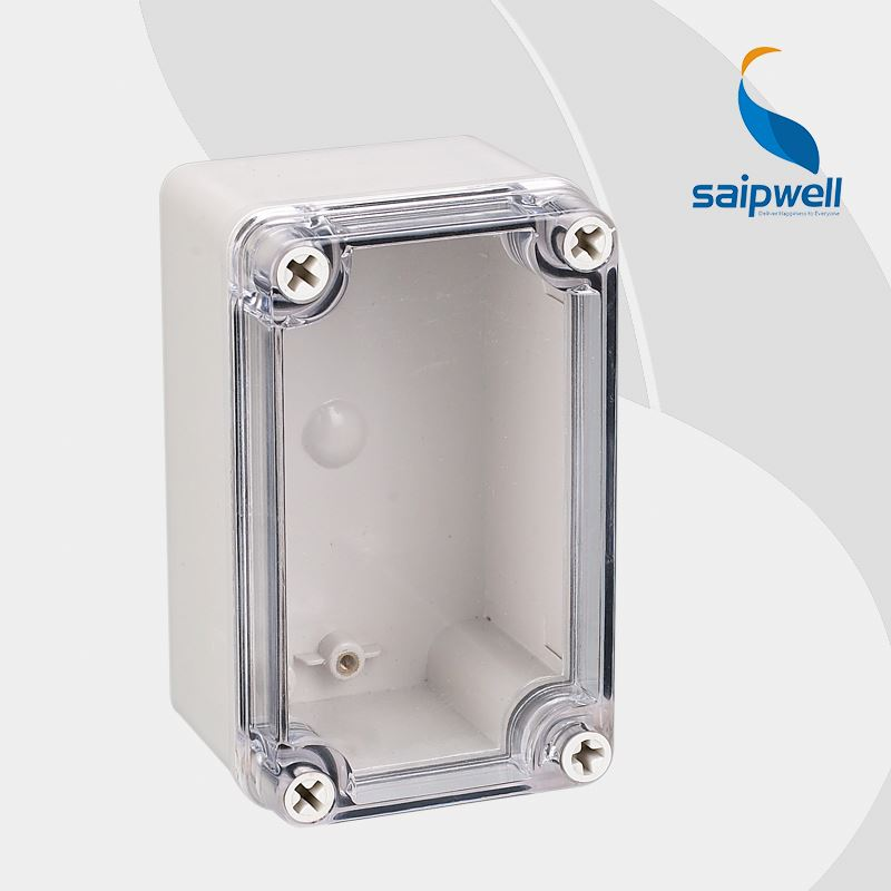 Saip/Saipwell Brand Transparent Cover IP65 Plastic Waterproof Electrical Junction Box DS-AT-0813