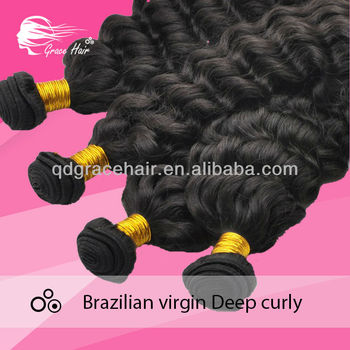 Very popular Brazilian virgin deep curly for black women