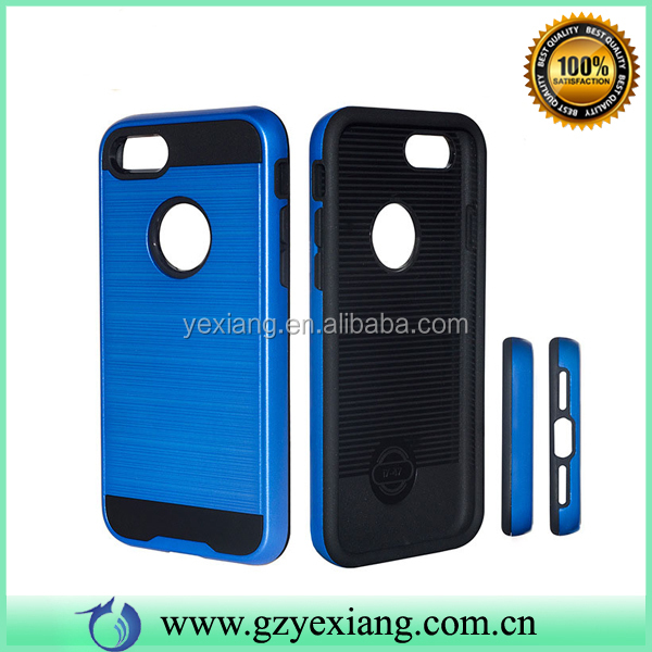 Wholesales brush case for moto X STYLE shockproof hard combo tpu pc back cover
