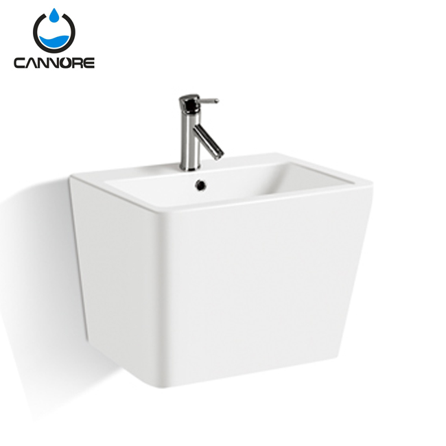 Chaozhou basin manufacturer ceramic wash sink wall hung mounted for hotel bathroom