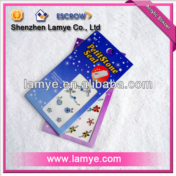 Mobile phone hot sell gem sticker