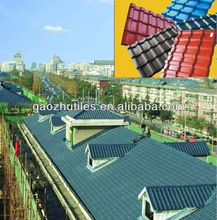 UV resistant pvc resin spanish style roof green spanish roof tile