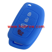 wholesale cheap color custom key cover silicone car remote case 3+1 button