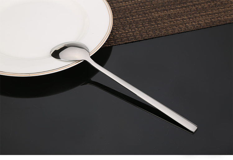 Eco-friendly Korean long handle stainless steel spoon set flatware tableware