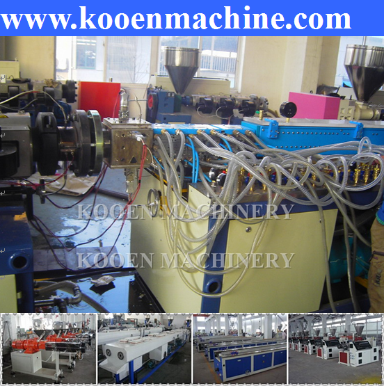 extrusion making machine pvc wood plastic door board production line