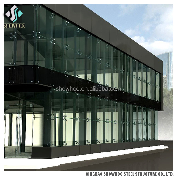 Professional design modern sloped light steel structure prefab office building
