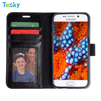 2017 besting selling on Alibaba Flip leather wallet mobile phone case cover for Samsung Galaxy S6 Case