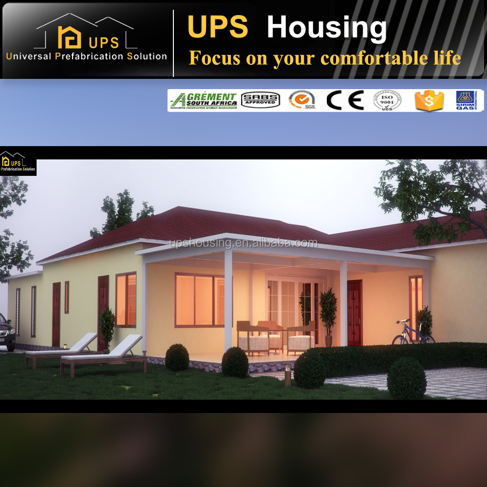 SGS Certificated Long Life Span Three Bedroom prefabricated house