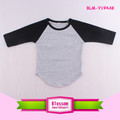 Baseball sport women tee shirt personalized frock design cotton boutique raglan name brand 3/4 sleeve mom and me shirt wholesale