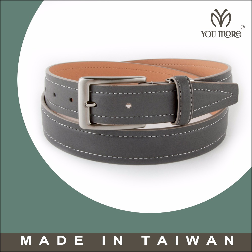Various design men genuine leather belts with plastic belt buckles